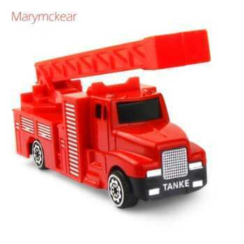 1 pcs Truck Model Vehicle Toy Diecast Fire Truck Kids Toys in Red Model Araba Boys Toy Baby Christmas/ New Year Gift