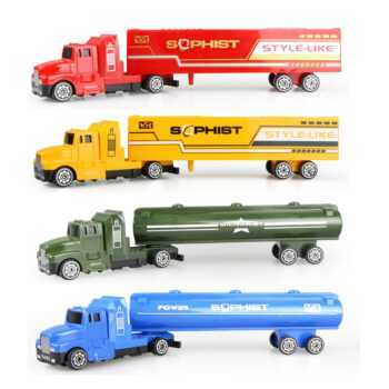 1 pcs Truck Model Diecast Toy Car Kids Toys Container Truck 1:60 Tank Container Boys Toys in 4 Colors Car Model Vehicles