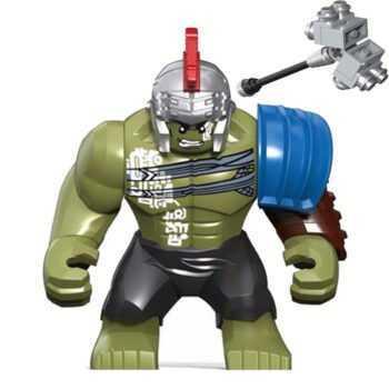 0281 8.5CM HULK Big Size Thor Ragnarok 3 Model Building Blocks Enlighten Figure Toys For Children