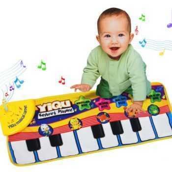 Baby Music Sport Game Play Singing Mat 72*28cm Kids Piano Keyboard for Animal Toy musical Carpet Crawling playmat gift
