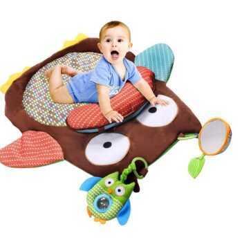 76cm*76cm Baby Soft plush Play Mat Crawling Activity game Mat Playing Cushion Mat Pillow Pad Padded Bolster Teether Gift