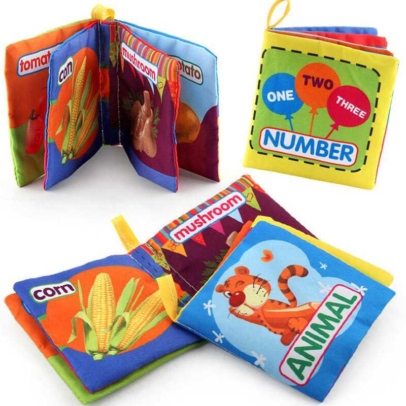 Baby Toys Soft Cloth Books Rustle Sound Infant Educational ...