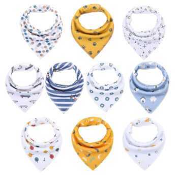 1 PCS Baby Bandana Bibs Upsimples Baby Girl Bibs for Drooling and Teething 100% Organic Cotton and Super Absorbent Hypoallergen