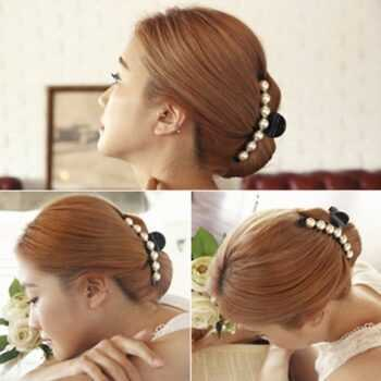 Black Big Rhinestone Hairpins For Women Pearl Hair Clips Crab Hair Claws For Girls Barrettes Headwear Hair Pins Accessories