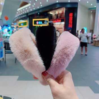 1pc Sweet Retro Women Elegant Rabbit Fur Hairbands Hair Accessories Faux Fur Head Band Headwear New Fashion Hair Band