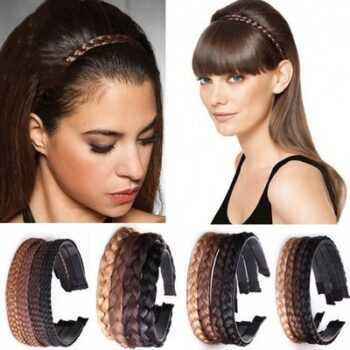 2019 Headband For Women Wedding Hair Bands Hairband Plaited Braided Hair Accessories 2019 Twisted Wig Braid Hairband Colorful