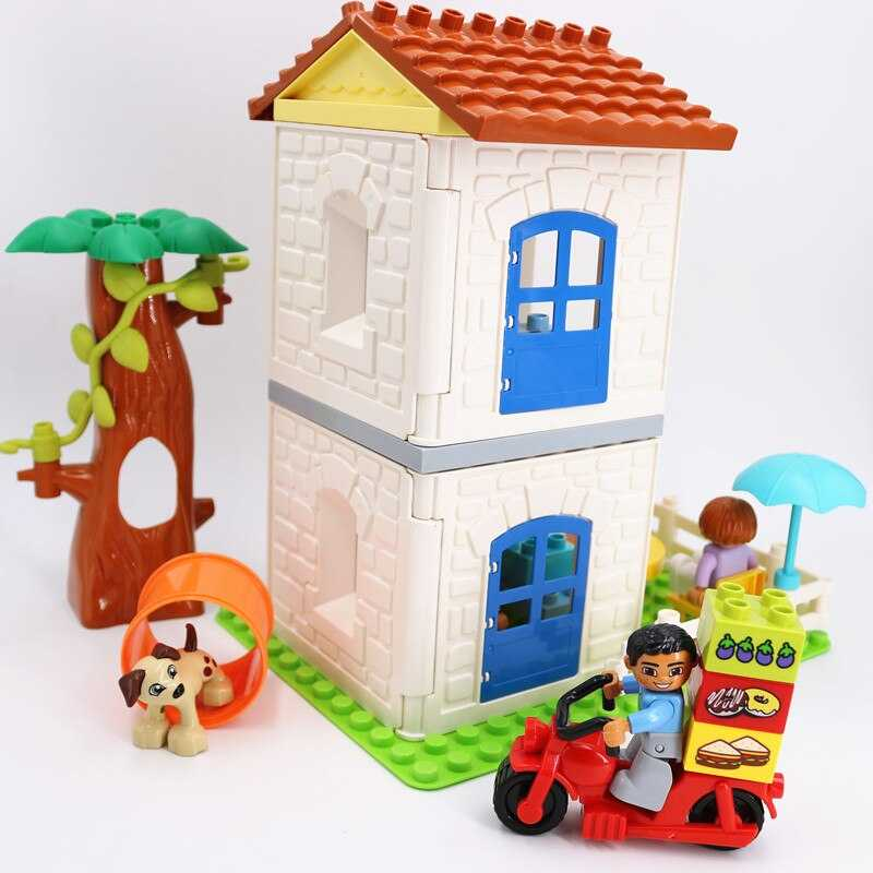 duploed Second Floor House Furniture combination Building Blocks Educational Children Toys with Duploe Parts Baby toy Gifts